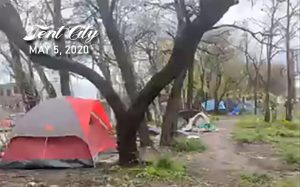 Feeding the Homeless in Tent City – May 10th, 2020